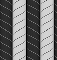 Ribbons black and gray chevron pattern vector image