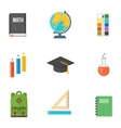School symbols set vector image