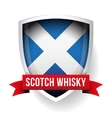 Scotch Whisky ribbon on Scotland flag vector image
