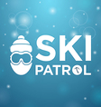 Ski patrol and icon man vector image