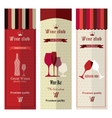 Three banners with different wine vector image