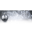 2017 New Year banner with fireworks vector image