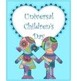 Universal children day background vector image vector image