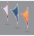 Set of three various colored flags vector image vector image