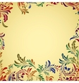 Vintage colorful floral background vector image