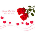 gift card with valentine day vector image vector image