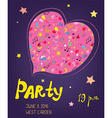 Party funny bacground for birthday or music event vector image