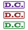 dc watermark stamp vector image