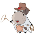 little cow Cartoon vector image