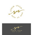 s n handdrawn brush monogram calligraphy logo vector image