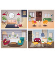 soviet style living-room collection furnished vector image