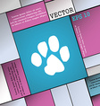 trace dogs icon sign Modern flat style for your vector image
