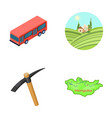 transport mine and other web icon in cartoon vector image
