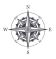 Wind Rose or Compass Icon on White Background vector image