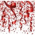 modern festive background red confetti vector image