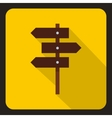 Road sign icon flat style vector image