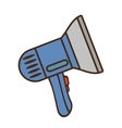 Cartoon dryer personal appliance home vector image