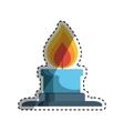 Bunsen burner flame vector image