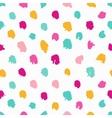Colorful hand-drawn polka dot seamless pattern vector image