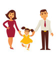 family mother father and child girl flat vector image