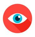 eye flat circle icon vector image