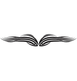 Ornament Wing Silhouette vector image