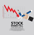 Stock Shares Fall vector image