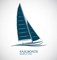 sailing boats vector image