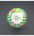 Frame with Place for Text Sphere 3d Composition vector image