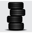 Four Truck tire tracks with shadow vector image