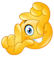 frame of fingers emoticon vector image