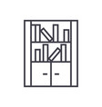 furniture librarybookcase line icon sign vector image