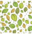 Leaves pastel color pattern seamless vector image