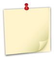 notepaper vector image