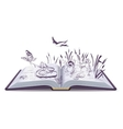 Open book tale Thumbelina vector image