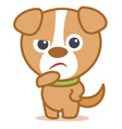 sad dog character cartoon vector image