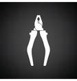 Pliers tool icon vector image