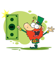 St Patricks Day leprechaun cartoon vector image vector image