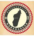 Vintage label-sticker cards of Madagascar vector image