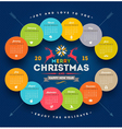Calendar 2015 with christmas type design vector image vector image