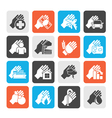Insurance and risk icons vector image vector image