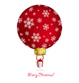 new year tree ball with air balloon shape vector image vector image