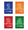 number background set vector image vector image