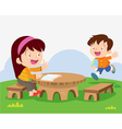 childrens study outside vector image