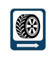 wheel repair signal isolated icon design vector image