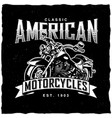classic american motorcycles poster vector image