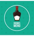 drinks menu bottle whiskey circle fruit background vector image