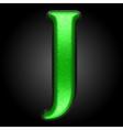 green plastic figure j vector image