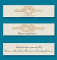 set of flyer templates with sea knots theme vector image