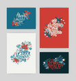 set of postcards with inscription happy mother s vector image